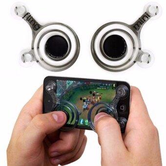 จอยเกมส์มือถือ (2 ชิ้น) ทุกเกมที่ใช้ระบบสัมผัสนิ้วโป้ง (Android / iPhone iPad) i-Joystick For All Mobile Brand
