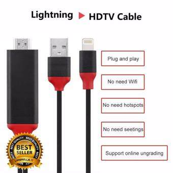 Plug & Play! 2 M สาย Lightning to HDTV 1080 P 8 Pines a HDMI MHL A HDMI Cable Convertidor De Un Rayo SE 5S HDTV Cable for iphone 6/6S/7/7 Plus iPad Air รุ่น A5-01