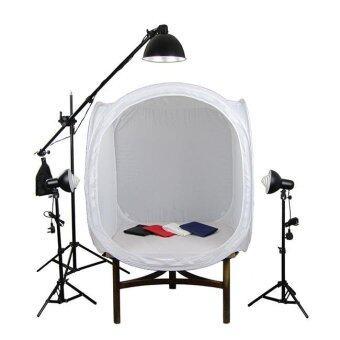 Studio Light Tent เต้นถ่ายสินค้า ขนาด 80x80x80 cm. ฉากหลัง 4 สี 1 ชิ้น