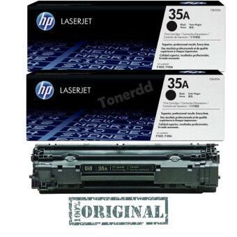 HP 35A (CB435AD) แพ็คคู่ สีดำ - หมึกแท้รับประกันศูนย์