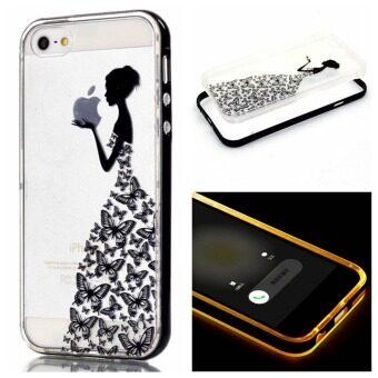 เคส for Apple iPhone 6 / Apple iPhone 6S 4.7 inch Case ซอพท์ใส with สายเข้า แฟลชLED - Girl