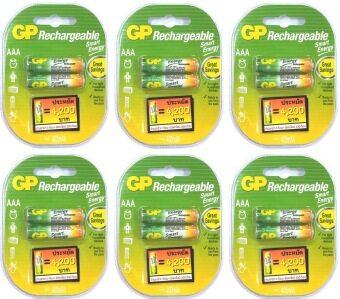 GP Battery แบตเตอรี่แบบ รีชาร์จได้ ขนาด AAA 400 มิลลิแอมป์ จำนวน 12 ก้อน