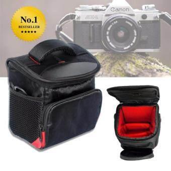 Elit กระเป๋ากล้องกันน้ำ กระเป๋ากล้องคล้องไหล่ สำหรับ กล้อง DSLR และ Mirrorless Cannon Nikon Fuji Sony (สีดำ)