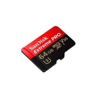 SanDisk โปรโต่ง 64จิกะไบต์ชั้น 10 UHS-I 95 MBps อ่าน U3 V30 MicroSD การ์ดหน่วยความจำแบบ SDSQXXG-064G-Intl