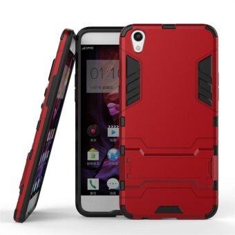 โทรศัพท์ลูกผสม BYT TPU+PC เคสสำหรับ Oppo F1 พลัส (สีแดง)