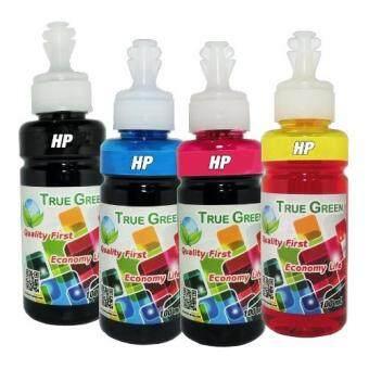 HP True Green inkjet refill 100ml. HP all model : B/C/M/Y ( ชุด 4 ขวด)(Multicolor)
