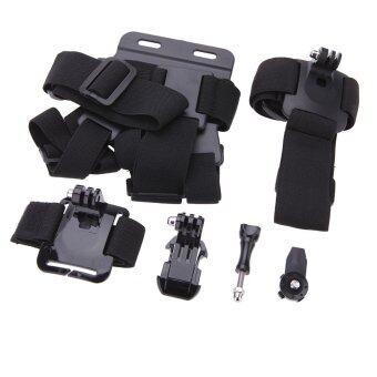 Andoer 7ใน1 เข็มขัดรัดหน้าอกเจตะขอเข็มขัดใส่อะแดปเตอร์พื้นผิว 1/10.16ซมเซ็ตชุดตัวเชื่อมต่ออุปกรณ์สำหรับ GoPro Hero และชุดสำหรับ Sony HDR ดำเนินการแคม-AS15/AS20/AS30V/AS100V/AZ1
