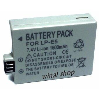 Winai shopแบตเตอรี่กล้อง แคนนอน Battery รุ่น LP-E5 1600mAh for canon Replacement Battery for Canon EOS Rebel XSi XS T1i 450D 500D 1000D Kiss F/X2/X3 (Gray) ...