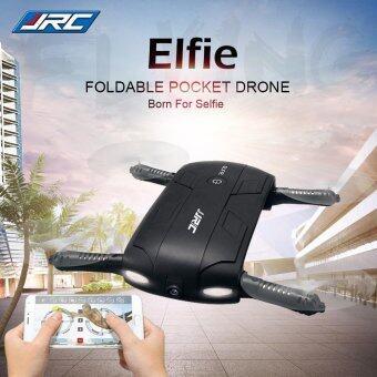Drone Selfie ติดกล้องความละเอียดสูง WiFi โดรนเซลฟี่ พร้อมระบบถ่ายทอดสดแบบ Realtime(NEW มีระบบ ล็อกความสูงได้) สีดำ