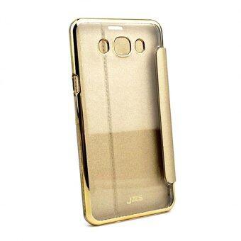 Case Samsung J7 2016 (เวอร์ชั่น 2) เคสพลาสติกหลังใส ฝาปิด สีทอง