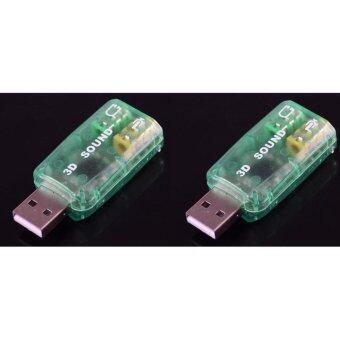 T-Spec ตัวแปลง แยกหูฟัง 1 ออก 2 / usb 5.1 แปลงเป็นไมค์โครโฟน และ หูฟัง 3.5mm ชุด 2 ชิ้น