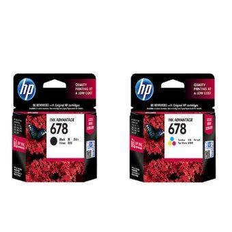 เช็คราคา HP CZ107AA NO. 678 (BLACK) + CZ108AA NO.678 TRI COLOR 2 ชิ้น ขายดี