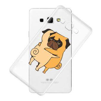 AFTERSHOCK TPU Case Samsung Galaxy J7 2016 (เคสใสพิมพ์ลาย Hug Dog) / Thin 0.33 mm