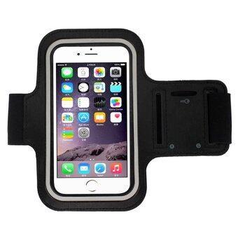 I - CHEAP Waterproof Sport Running Armband Case ปลอกแขนมือถือออกกำลังกาย กันน้ำได้ หน้าจอ 5.5 นิ้ว (สีดำ)