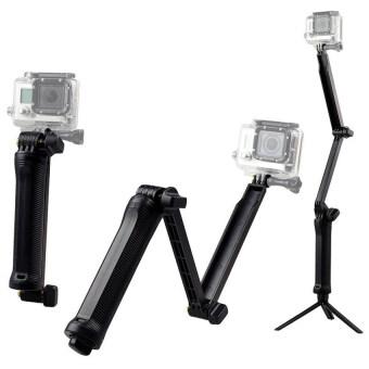 ไม้เซลฟี่ 3-Way สำหรับกล้อง Action Camera ทุกรุ่น (สีดำ)