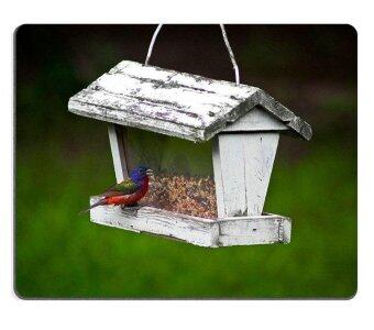 Harga Sold by ELong station Mouse Pad Gaming Mouse pad Natural Rubber mouse mat s A small bird eating bird at a vintage bird feeder M0A04533 - intl
