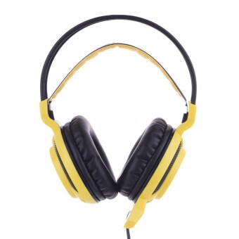 Afunta Sades MoYu 3.5มมไปแบบปลั๊กหูขาวชุดหูฟังสเตอริโอเสียงรบกวนคาดยกเลิกเกมหูฟังเบสแยกหูฟังกับไมโครโฟนไฟ led หลากสีพ่นสำหรับแท็บเล็ตพีซีโทรศัพท์มือถือเกมนักเล่นเกมแล็ปท็อป MP3 MP4 สีเหลือง