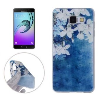 Harga For Samsung Galaxy A7 (2016) / A710 Magnolia Flower Pattern Transparent TPU Soft Protective Back Cover Case - intl
