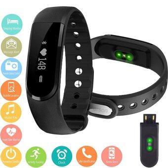 Person นาฬิกาสุขภาพอัจฉริยะ ติดตามกิจกรรม วัดอัตราการเต้นหัวใจ ฟิตเนส รุ่น ID101HR(Black)