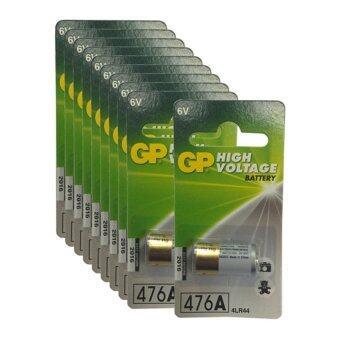 GP ถ่านกล้องถ่ายรูป 4LR44 6V - สีขาว/ทอง (10 ก้อน)