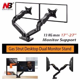"Harga North Bayou NB F160 by Mastersat ขาตั้งจอ แบบ Dual Gas Strut Desktop Dual LCD , LED Monitor Stand , LCD Stand, ขาแขวนจอ lcd ,led แบบ 2 จอ รองรับจอ 17""-27"""
