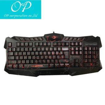 Marvo Set Keyboard+Mouse ชุดคีย์บอร์ด + เมาส์ ไฟ 3 สี รุ่น KM410L - (สีดำ)