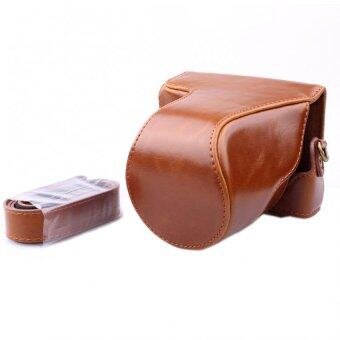 Luxury Vintage PU Leather Camera Bag Case for Canon EOS M3 M III 18-55mm DSLR Camera Cases with Shoulder Strap(Brown) - intl