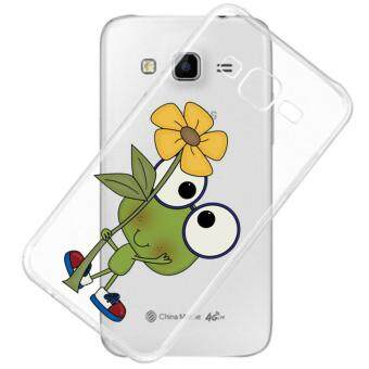 AFTERSHOCK TPU Case Samsung Galaxy J7 2015 (เคสใสพิมพ์ลาย Green frog) / Thin 0.33 mm