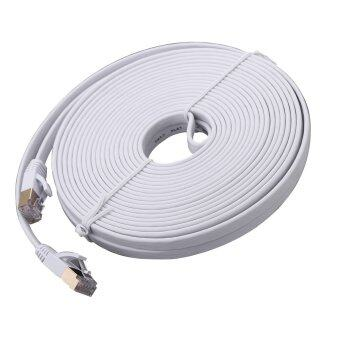 Harga Ultra-slim Flat Type Cat.7 High-Speed LAN Cable สายแลน CAT 7 10M ( White)