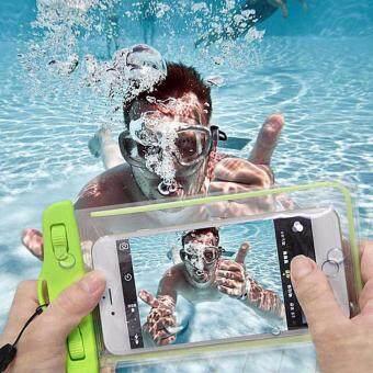 ซองกันน้ำ สำหรับโทรศัพท์มือถือ (waterproof phone pouch) สีเขียว