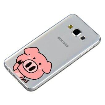HugCase TPU เคส Samsung Galaxy A7 2015 เคสโทรศัพท์พิมพ์ลาย Pig Pig เนื้อบาง 0.3 mm