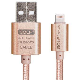 Golf Metal Quick Charge & Data Cable สายชาร์จ Lightning สำหรับ iPhone 5 / 5C / 5S / 6 / 6 Plus / iPad สายถัก (สีทอง)