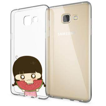 HugCase TPU เคส Samsung Galaxy A9 Proเคสโทรศัพท์พิมพ์ลาย Eating เนื้อบาง 0.3 mm