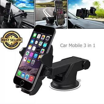 iremax ที่ยึดมือถือในรถ Car Mobile 3 in 1 เพิ่มความสะดวกสบาย ขณะขับรถ ทุกรุ่น สีดำ-(จำนวน 1 ชุด)