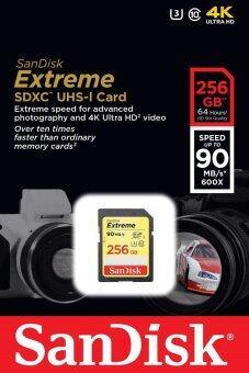 Sandisk เมมโมรี่การ์ด 256GB Class 10 Extreme UHS-I U3 SD 90MB/s SDXC