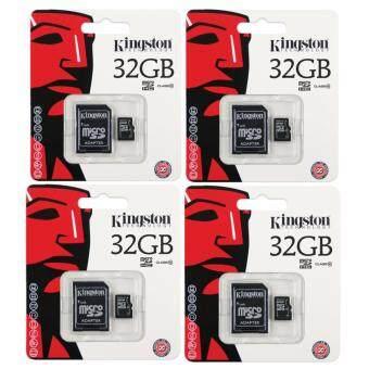 Kingston anny Kingston Memory Card Micro SD SDHC 32 GB Class 10 คิงส์ตัน เมมโมรี่การ์ด 32 GB รุ่น แพ็ค4ชิ้น