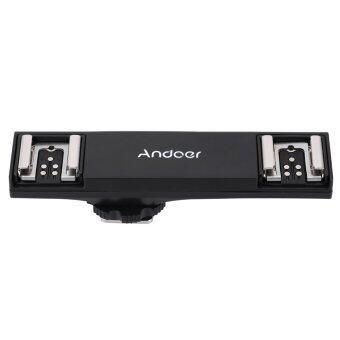 Andoer คู่รองเท้าร้อนวาบ Speedlite วงเล็บแยกแสงสำหรับ Canon 7DII 70D 5DR 5DRS 5DIII 6D DSLR กล้องกล้องถ่ายวิดีโอ