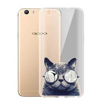 AFTERSHOCK TPU เคส OPPO A39 เคสโทรศัพท์พิมพ์ลาย Black Cat เนื้อบาง 0.33 mm