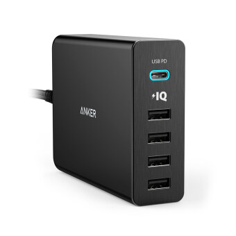 Harga ANKER PowerPort+ 5 USB-C USB Power Delivery (Black)