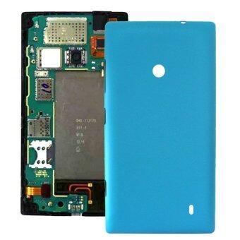 ปกพลาสติกแทนหลังอาคารสำหรับ Nokia Lumia 520 (สีน้ำเงิน)