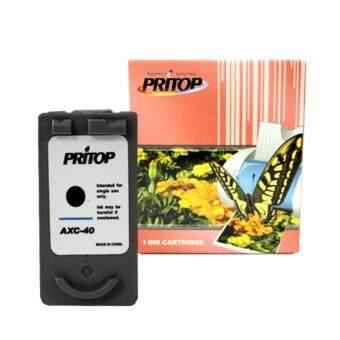 Pritop /Canon ink Cartridge 40BK/PG40/PG 40 PG-40 ใช้กับปริ้นเตอร์ Canon Inkjet iP1200/iP1600/iP1700/iP1880/iP2580/MP145/MP150/MP160/MP228/MP450/MP460/MP476/MX308/MX318/iP1980