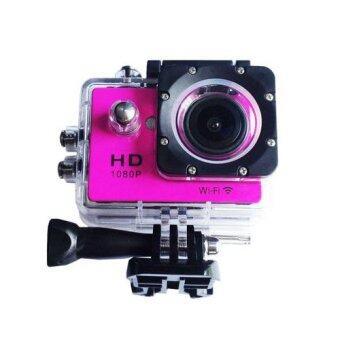 กล้องกันน้ำ Action Camera Sport Cam WiFi Full HD 1080p (สีชมพู)
