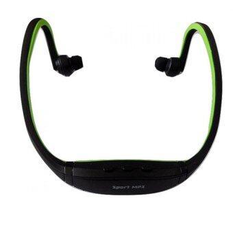 BestBuy Outdoor Sports Mp3 เครื่องเล่น Mp3 ขนาดพกพา Music Player Headphone - Black/Green