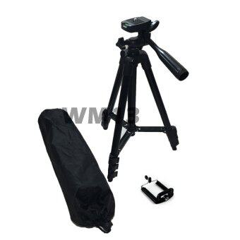 TF tripod ขาตั้งกล้อง 3 ขา รุ่น 3120 พร้อม หัวต่อสำหรับมือถือ (Black)