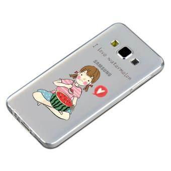 HugCase TPU เคส Samsung Galaxy A5 2015 เคสโทรศัพท์พิมพ์ลาย I love watermelon เนื้อบาง 0.3 mm