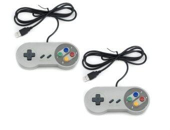 จอยเกมส์ 16 Bit ซุปเปอร์นินเทนโด (2 ชิ้น) Nintendo game PC controller SFC GamePad for Windows PC USB Super famicom