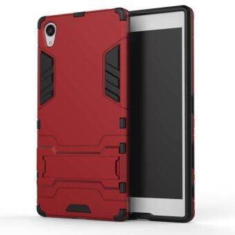 Airress TPU/PC 2ใน1 ชุดเกราะทหารเกรดโทรศัพท์เคสสำหรับเบี้ยทุรกันดาร Sony Xperia Z5 (สีแดง)