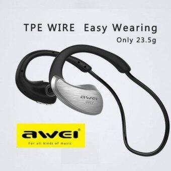 Astro Awei Bluetooth A885 BL หูฟังบลูทูธแบบ Sport - สี Silver