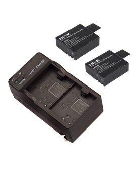 SJCAM แท่นชาร์จคู่ พร้อมแบต 2 ก้อน สำหรับ SJCAM SJ4000 SJ5000 (Black)