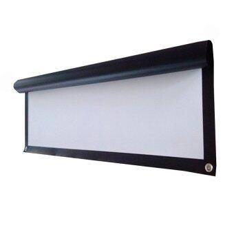 good Projector Screen จอโปรเจคเตอร์ แบบติดผนัง 100 นิ้ว 16:9 WIDE SCREEN ( White )
